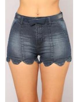 Prettiest Of Them All High Rise Shorts   Dark Denim by Fashion Nova
