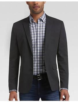Joe Joseph Abboud Black Slim Fit Casual Coat by Mens Wearhouse