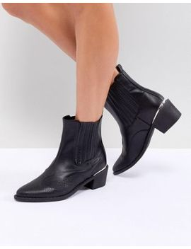 Missguided Western Ankle Boot by Missguided