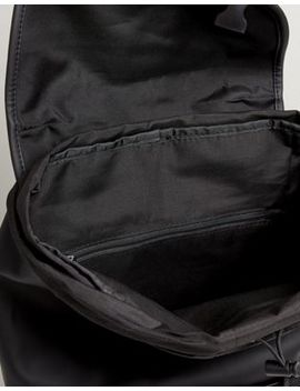 Asos Design Hiker Backpack In Black Rubberised Finish by Asos Design