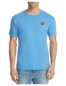 Red Heart Crewneck Tee by Comme Des Garcons Play