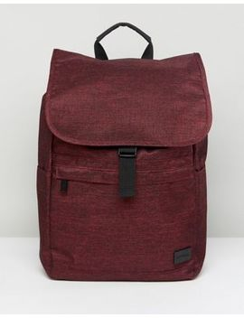 Spiral Backpack In Crosshatch Burgundy by Spiral