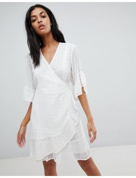 All Saints Broderie Wrap Mini Dress by All Saints