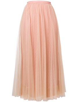 Red Valentinotulle Pleated Dresshome Women Clothing Pleated Skirts by Red Valentino