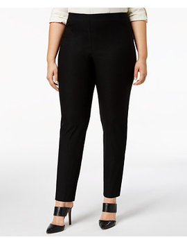 Plus Size Chelsea Tummy Control Skinny Leg Pull On Ankle Pants, Created For Macy's by Charter Club