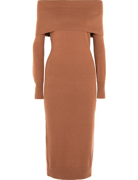 Over The Shoulder Merino Wool Midi Dress by Theory