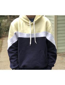 Classic Hoodie | Original Hoodie | Custom Hoodie | Navy Hoodie | Colorblock Hoodie by Etsy