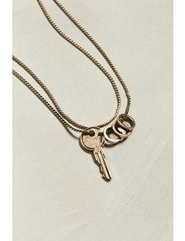 Uo Golden Key Necklace by Urban Outfitters