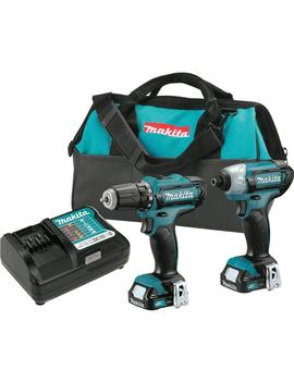 12 Volt Max Cxt Lithium Ion Cordless 3/8 In. Drill And Impact Driver Combo Kit With (2) 1.5 Ah Batteries Charger Case by Makita