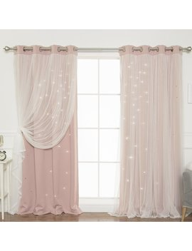 Harriet Bee Efird Tulle Overlay Star Cut Out Blackout Thermal Grommet Curtain Panel & Reviews by Harriet Bee