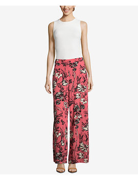 Floral Print Palazzo Pants by Eci