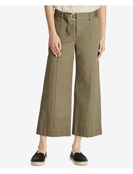Twill Cropped Wide Leg Pants by Lauren Ralph Lauren