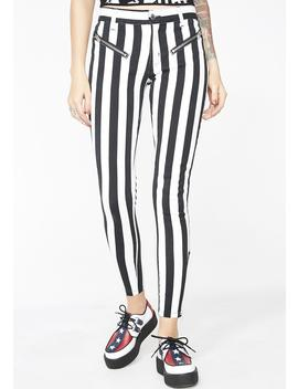Strange N' Unusual Stripe Pants by Current Mood