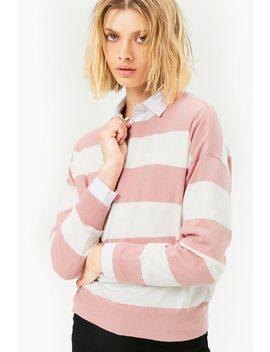 Block Stripe Sweater by Forever 21