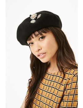 Brooch Embellished Beret by Forever 21