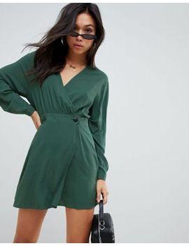 Asos Design Casual Wrap Mini Dress by Asos Design