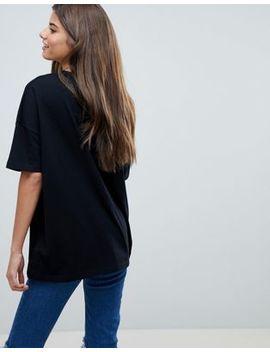 Asos Design Super Oversized T Shirt With Drop Shoulder In Black by Asos Design