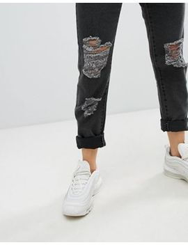 Noisy May Distressed Mom Jean by Noisy May