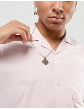Asos Design Necklace With Roman Coin Spinner In Burnished Gold by Asos Design