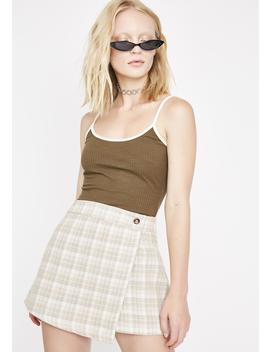 Dope Enough Plaid Skirt by Emory Park