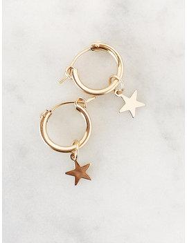 Hoop Earrings, Small Gold Hoops, Celestial Jewelry, Dainty Earrings, Minimalist Earrings, Gold Earrings, Dangle Earrings, Minimalist Jewelry by Etsy