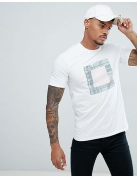 River Island T Shirt With Check Box Print In White by River Island