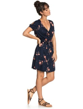 Monument View Short Sleeve Wrap Dress by Roxy