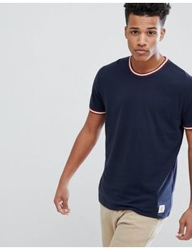 Abercrombie & Fitch Varsity Tipped Ringer T Shirt In Navy by Abercrombie & Fitch