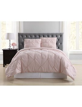 Truly Soft Pleated Blush Twin Xl Comforter Set by Truly Soft
