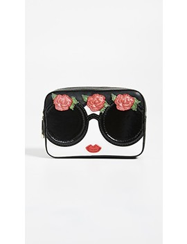 Ava Stace Face Flowers Travel Case by Alice + Olivia