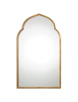 One Allium Way Gold Arch Wall Mirror & Reviews by One Allium Way