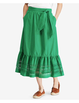 Poplin Midi Skirt by Lauren Ralph Lauren