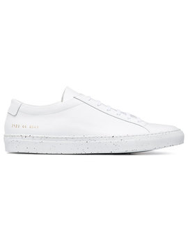 Common Projectswhite Achilles Confetti Leather Low Top Sneakershome Men Shoes Low Tops by Common Projects