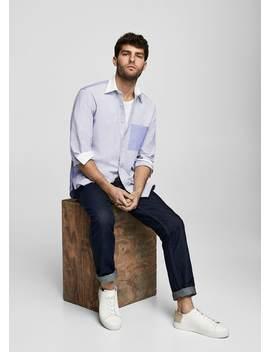 Regular Fit Oxford Cotton Shirt by Mango