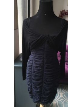 Carven 100 Percents Silk Draped Off The Shoulder Dress Sz 40/6/8 by Carven