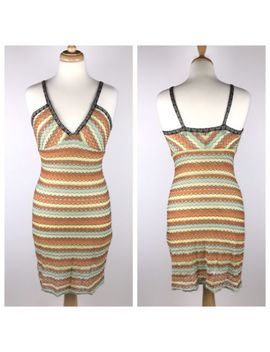 Missoni Women's Size 6 Multicolored Striped Sweater Dress Early 2000's Style by Missoni