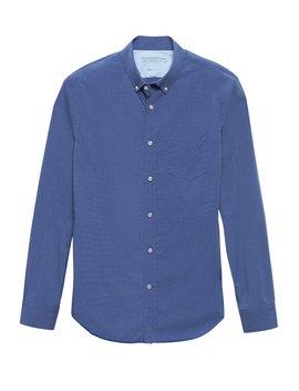 Camden Standard Fit Luxe Poplin Shirt by Banana Repbulic