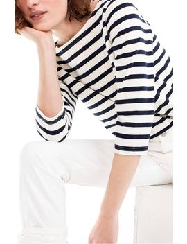 Structured Stripe Tee by J.Crew