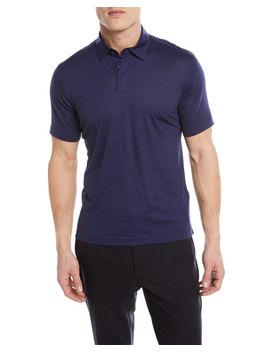 Wool Linen Polo Shirt by Z Zegna