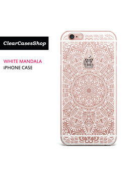 White Mandala I Phone 7 Case, Also Available For I Phone 7 Plus, I Phone 6, I Phone 6 Plus, I Phone 6s Plus, I Phone 5/S/Se, S7 & S7 Edge by Etsy