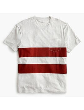 Triblend T Shirt In Red Double Stripe by J.Crew