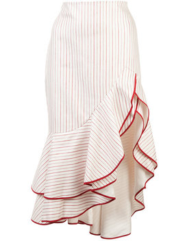 Alexisruffled Asymmetric Skirt Home Women Clothing Asymmetric & Draped Skirtscropped Flared Top Ruffled Asymmetric Skirt by Alexis