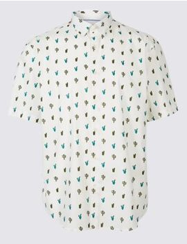 Pure Cotton Cactus Print Shirt by Marks & Spencer