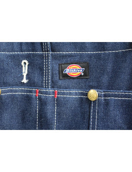 Vintage Dickies Brand Denim Overalls by Etsy