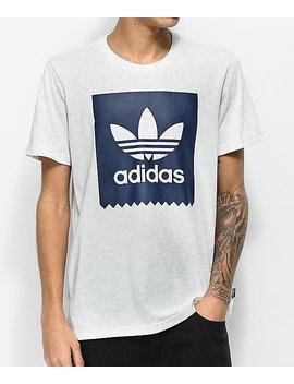 Adidas Blackbird Solid Heather Grey & Blue T Shirt by Adidas