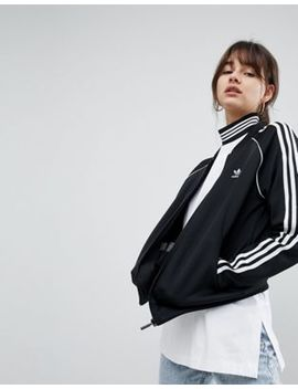 Adidas Originals Adicolor Three Stripe Track Jacket In Black by Asos Us