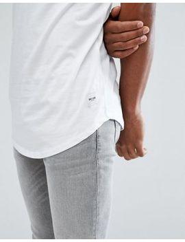 Only & Sons T Shirt With High Neck And Curved Hem Details by Only & Sons