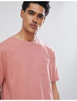 Pull&Bear   Join Life   T Shirt à Poche   Rose by Pull&Bear