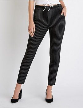 Striped Skinny Trousers by Charlotte Russe