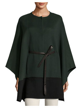 Sporty Double Face Cashmere Cape by Loro Piana